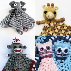 Crocheted baby lovies