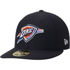 289991b25c5 Men s New Era Navy Oklahoma City Thunder Official Team Color Low Profile  59FIFTY Fitted Hat
