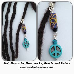 African Dreadlock Braid Twist Hair Bead Dread Locs Jewelry $10 via @adanacollins @lovabletreasures