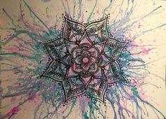 Mandala Watercolor and liner