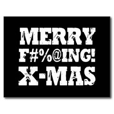 MERRY EFFING XMAS Funny Christmas Postcard