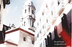 Silueta de la catedral de Málaga por Bernabé Ramírez