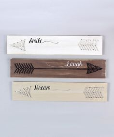 Look what I found on #zulily! Vintage Wood Arrow Wall Sign Set by Young's #zulilyfinds