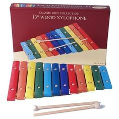 """Classic Gift Collection - Classic Toy Collection Wood Xylophone - Large by Classic Toy Collection. $49.98. Classic Toy Collection Wood Xylophone - Large13"""" Wood Xylophone.Enjoy this Musical Wood Wylophone-13"""".Dimensions: 13.5 x 1.8 x 8.8 inchesDisclosure: Suggested age is 8 - 15 years Product may contain Small parts Not suitable for children under 3 yrs.. Save 55% Off!"""
