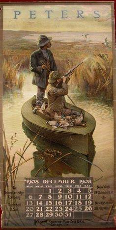 Vintage Duck Hunting Calendar