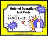 Order of Operations Task Cards 5th Grade Math Common Core