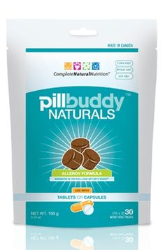 Pill Buddy Naturals makes pill time a rewarding and easy experience for you and your pet. Pill Buddy Naturals will accommodate almost any size pill or capsule intended for dogs - simply 'push, squeeze and feed'.    Nature's SauceTM provides excellent mouth-feel, impact and texture; providing a unique surface for the treat to be swallowed whole. http://www.completenaturalnutrition.com/index.php?route=product/product&prod  uct_id=86
