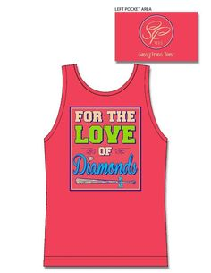 """* Tank Top - """"For the Love of Diamonds"""" on Comfort Colors"""