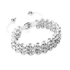 Silver Kismet Links Bracelet   White