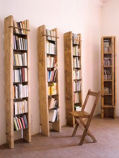 Bookshelves with a bit of character