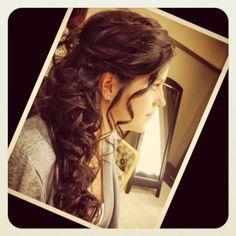 Great ideas Wedding Hair & Beauty Photos on WeddingWire Wedding Hairstyles For Long Hair, Formal Hairstyles, Scarf Hairstyles, Cute Hairstyles, Bridal Hairstyles, Half Up Long Hair, Beauty Photos, Natural Curls, Wedding Photos