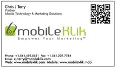 Mobile business cards using QR codes