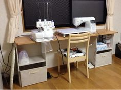 {F2F1B933-AAFC-4EC3-BDCF-29C2AC140E30:01} Storage Solutions, Room Inspiration, Office Desk, Corner Desk, Sewing Crafts, Diy And Crafts, Interior, Handmade, Furniture
