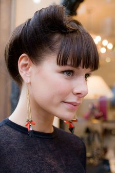 Great hair and earrings via Vogue.com UK