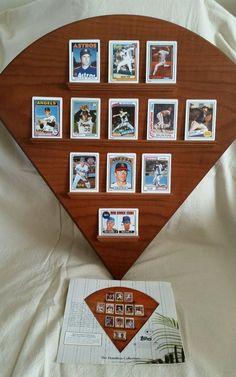 Nolan Ryan 12 Porcelain Baseball Card Set and Oak Display~Hamilton~COA's~EC #HamiltonCollection Nolan Ryan, Card Holders, Hamilton, Gallery Wall, Porcelain, Display, Baseball Cards, Boys, Frame