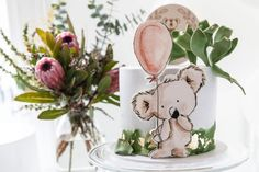 Koala Birthday Party - Lifes Little Celebration Diy 1st Birthday Decorations, 1st Birthday Party For Girls, First Birthday Themes, Girl Baby Shower Decorations, First Birthdays, Birthday Celebration, Animal Birthday, Bunny Birthday, Animal Party
