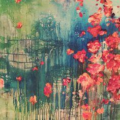 ...abstract art by sonja blaess..petit jardin...2017...