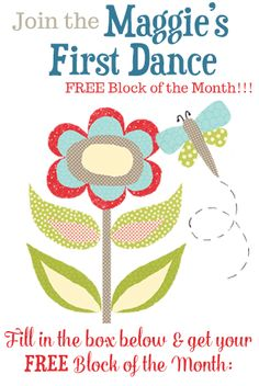 #FREE #QUILT Block of the Month, time to sign up now.