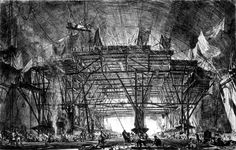 'The Great Gantry, Charing Cross Station', Sir Muirhead Bone