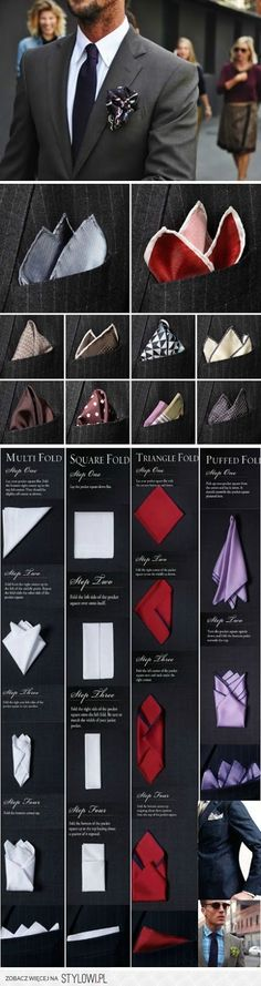 Awesome ways to fold your pocket silk.