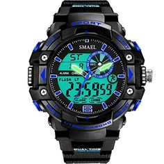 29ceef7a7441 Gaintin Blue Big Kids Teens Boys Analog Digital Large Face Chronograph  Watch     Check