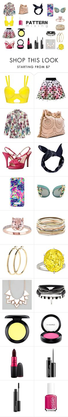 """Sunshine and Crocheted Flower Garden"" by emmica-rosales on Polyvore featuring ONLY, STELLA McCARTNEY, Kate Spade, Boohoo, Lilly Pulitzer, Dolce&Gabbana, Kendra Scott, Pieces, Full Tilt and MAC Cosmetics"