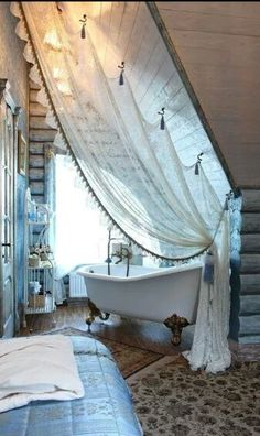 """Love this for any corner space with """"vaulted"""" ceilings"""
