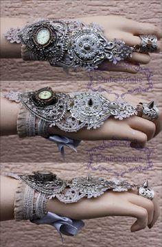 细密精致的蒸汽朋克风格腕饰设计丨Pinkabsi... 来自Photoshop大师 - 微博