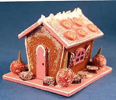 Gingerbread house - candy apples - $18.00 : S P MINIATURES - hand crafted dollhouse miniatures, S P MINIATURES - shop online for dollhouse miniatures