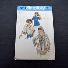Vintage 1976 Misses Pullover Top Sewing Pattern by PishPoshNotions