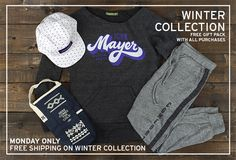 New Winter Collection - CYBER MONDAY ONLY: free shipping on all new merchandise!