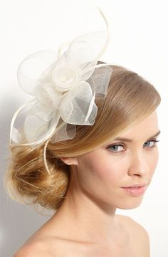 Image result for hairstyles with saucer fascinators