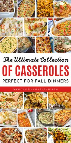 200 Easy And Cheap Casserole Recipes - This Tiny Blue House - - Here is the ultimate collection recipes!) of easy and Cheap Casserole Recipes that are perfect for easy fall and winter dinner. Winter Dinner Recipes, Fall Recipes, Cheap Recipes, Winter Dinner Ideas, Christmas Recipes, Cheap Dinner Ideas, Easy Cheap Dinner Recipes, Potluck Recipes, Seafood Recipes