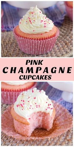 Pink Champagne Cupcakes – Recipe Girl – New Cake Ideas Brownie Desserts, Oreo Dessert, Köstliche Desserts, Dessert Recipes, Alcoholic Desserts, Food Cakes, Pink Champagne Cupcakes, Pink Cupcakes, Birthday Cupcakes