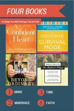 Four Books to Change Your Mind, Marriage, Time and Faith