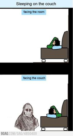 Yup, this pretty much sums up why I can't sleep with my back to an open room.