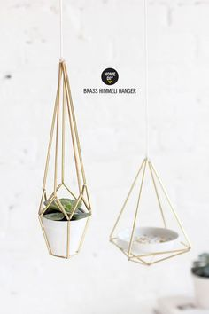 Make himmeli hangers for plants and jewelry.