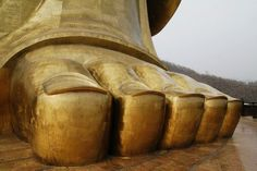 Foot of The Spring Temple Buddha in Lushan County, Henan Province
