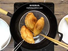 Spiral Curry Puff (Karipap Pusing): Deep-Fried or Baked Grill Pan, Spiral, Fries, Grilling, Curry, Deep, Baking, Griddle Pan, Patisserie