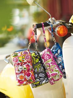 Get your Vera Bradley pushlock wristlet from Living Water Home Spa Shop!