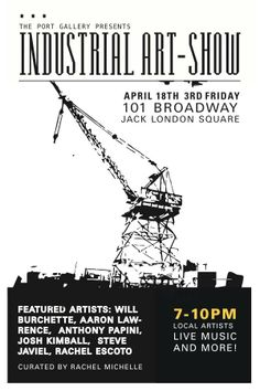 """Going to be apart of """"INDUSTRIAL"""" in Oakland tonight. I'll be showing 7 pieces see you there."""