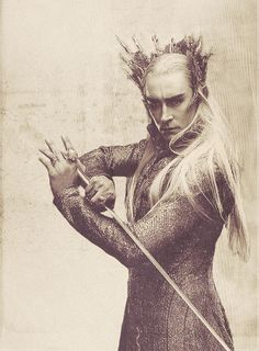 Thranduil.  he's just so cool... riding on an elk and all...