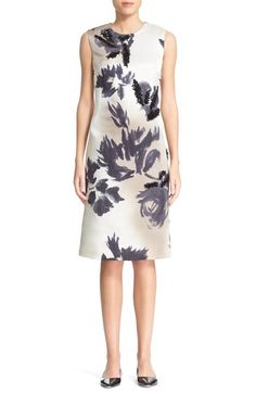 MARC JACOBS Sequin Embellished Print Silk Dress available at #Nordstrom