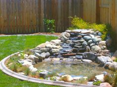 waterfall pondscaping | Waterfall Landscaping Ideas
