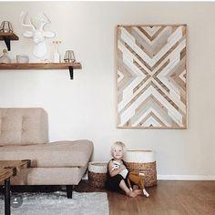 RAW Restorations reclaimed wood wall art piece custom