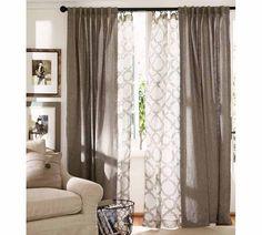 Double Curtain look