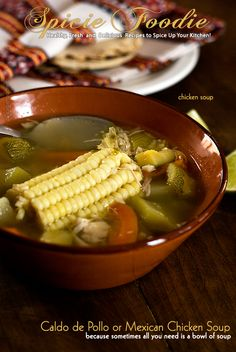 Caldo de Pollo or Mexican Chicken Soup: Healthy cold weather recipe to fight off a cold | #soup #caldo #chicken