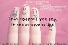 very true.... #quote #quotes #meaningful Stop Bullying Quotes, Stop Cyber Bullying, Anti Bullying, Bully Quotes, Tumblr Quotes, Life Quotes, Think Before You Speak, It Gets Better, The Way You Are