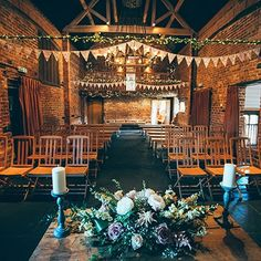 The beautiful barn set up at small wedding venue in the West Midlands - Curradine Barns