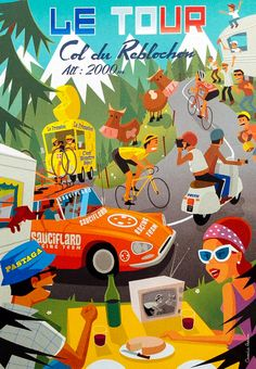 Le Tour poster by Charlie Adam.